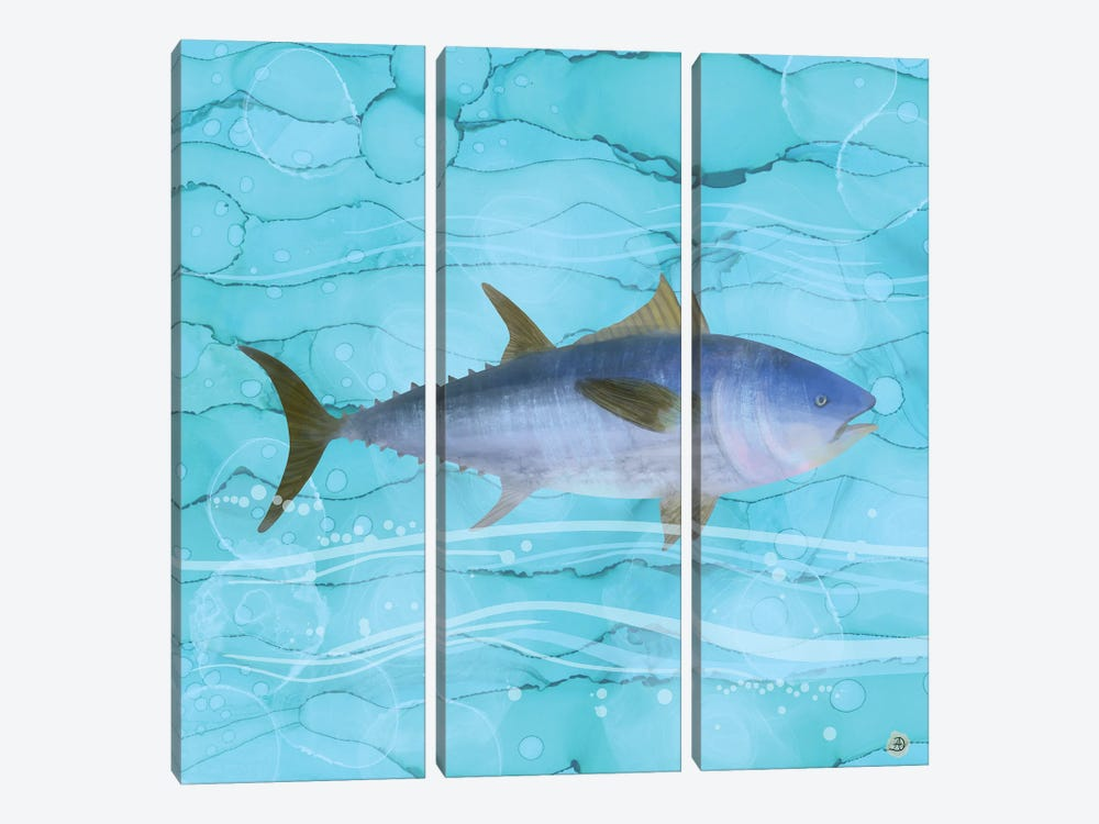 Atlantic Bluefin Tuna Fish by Andreea Dumez 3-piece Canvas Wall Art