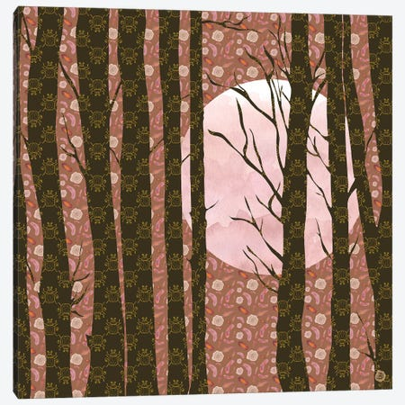 November Moonlight Canvas Print #AEE30} by Andreea Dumez Canvas Art Print