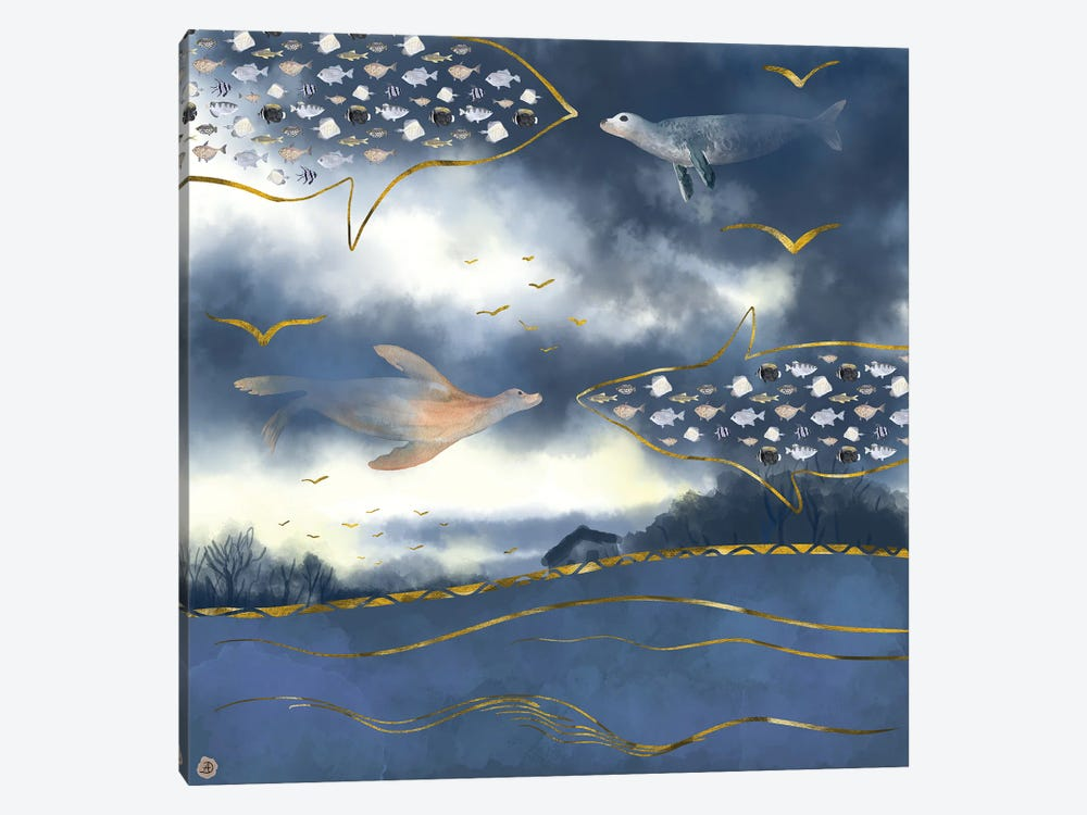 Surreal Snowstorm by Andreea Dumez 1-piece Canvas Art