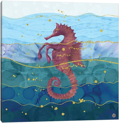 The Fantastic Seahorse In The Ocean Canvas Art Print