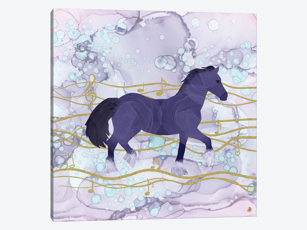 The Musical Horse Trotting Through The Rhythms Of Nature by Andreea Dumez 1-piece Canvas Print