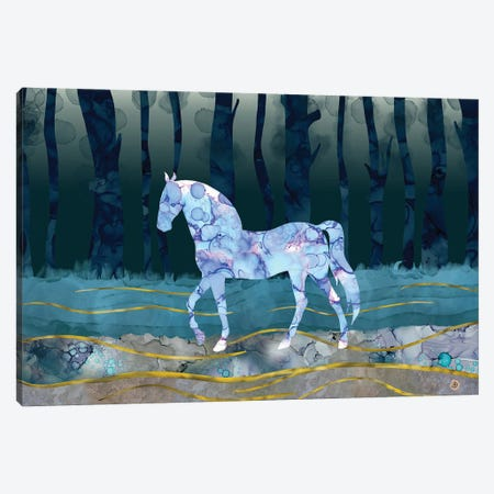 The Mystery Horse - A Woodlands Fantasy Canvas Print #AEE53} by Andreea Dumez Canvas Art Print