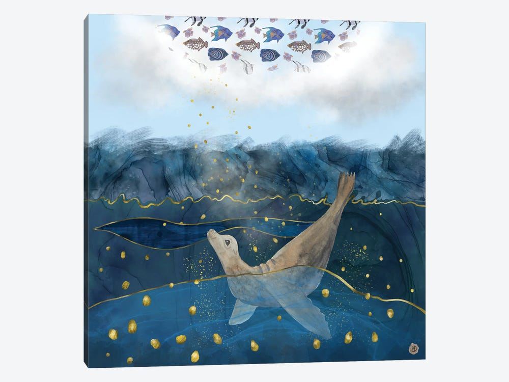 The Sea Lion's Dream - The Race For Food In Warming Oceans by Andreea Dumez 1-piece Art Print