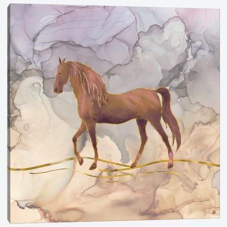 Wild Horse Walking In The Hot Desert Canvas Print #AEE59} by Andreea Dumez Art Print