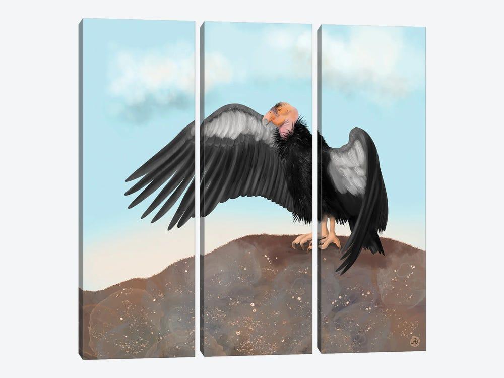 California Condor Spreading Its Wings by Andreea Dumez 3-piece Canvas Artwork
