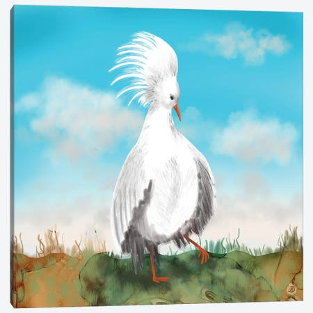 Kagu Bird Of New Caledonia Canvas Print #AEE68} by Andreea Dumez Canvas Art