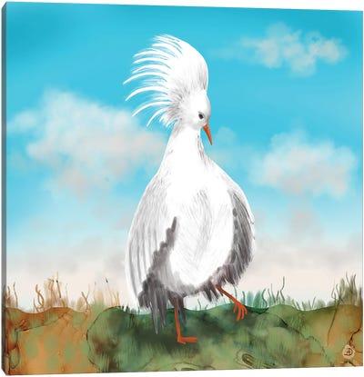 Kagu Bird Of New Caledonia Canvas Art Print