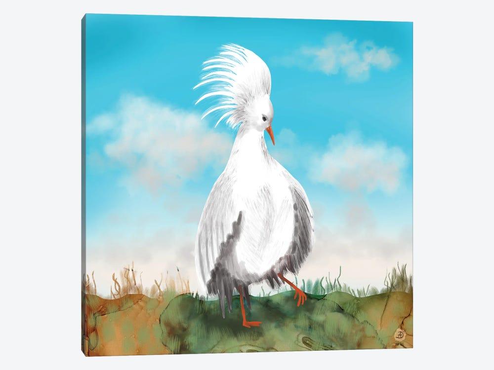 Kagu Bird Of New Caledonia by Andreea Dumez 1-piece Canvas Wall Art