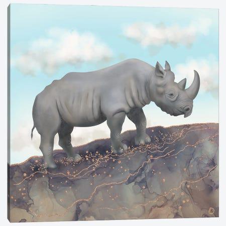 African Black Rhino Canvas Print #AEE71} by Andreea Dumez Art Print