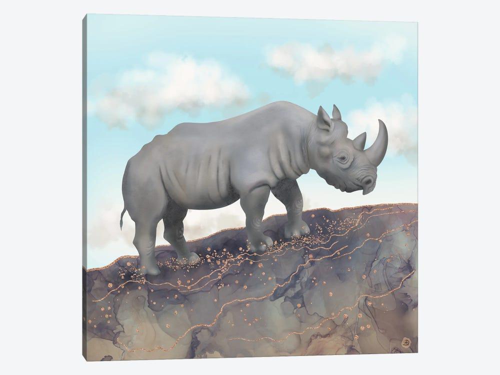 African Black Rhino by Andreea Dumez 1-piece Canvas Art