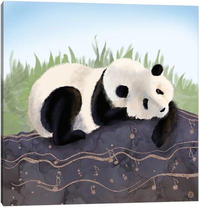 The Giant Panda Humming A Happy Song (The Musical Panda) Canvas Art Print