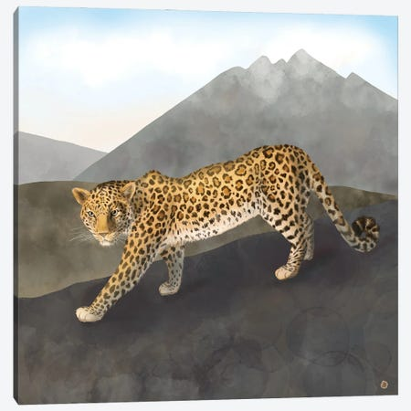 Amur Leopard In The Mountains Canvas Print #AEE73} by Andreea Dumez Canvas Art Print