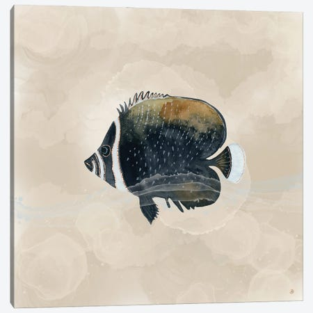 Exotic Butterflyfish In Earth Tones Canvas Print #AEE78} by Andreea Dumez Canvas Art Print