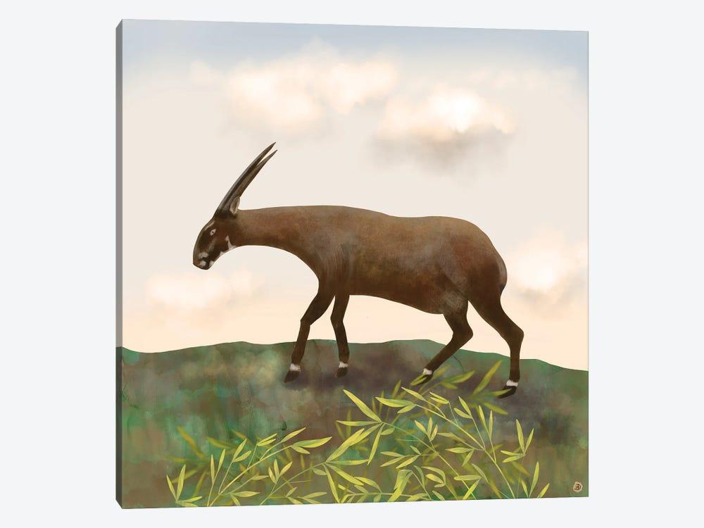 Saola - The Asian Unicorn - Rarest Animal On Earth by Andreea Dumez 1-piece Art Print