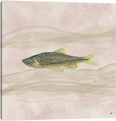 Carp Fish Swimming In Cloudy Water Canvas Art Print
