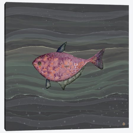 Mysterious Red Fish In Deep Sea Waters Canvas Print #AEE86} by Andreea Dumez Canvas Art Print