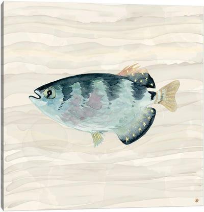 Patriot Fish Swimming Canvas Art Print