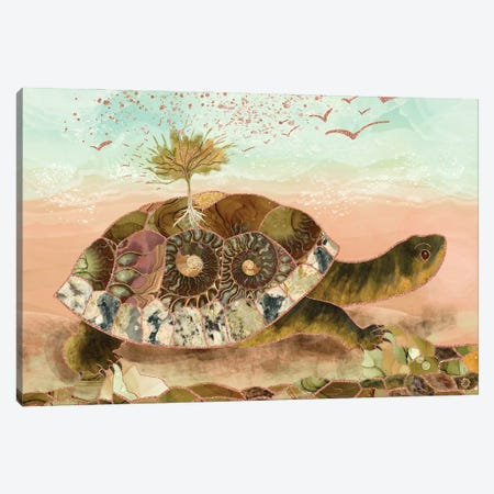 Magical Turtle Saving The Planet Canvas Print #AEE91} by Andreea Dumez Canvas Print