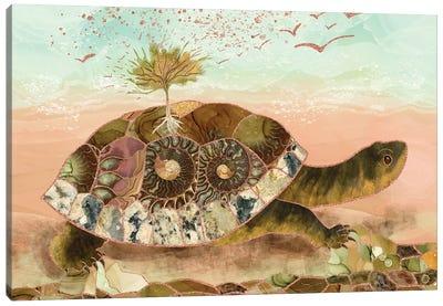 Magical Turtle Saving The Planet Canvas Art Print