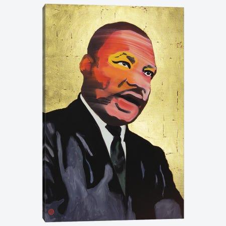 MLK (Gold Leaf) Canvas Print #AEK29} by Antti Eklund Canvas Artwork