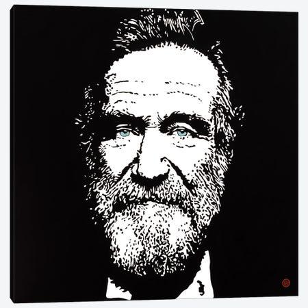 Robin Williams Canvas Print #AEK40} by Antti Eklund Canvas Wall Art