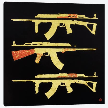 Splatter Canvas Print #AEK43} by Antti Eklund Canvas Wall Art