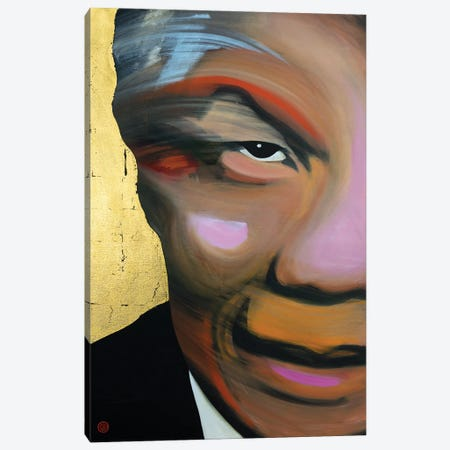Mandela Canvas Print #AEK48} by Antti Eklund Canvas Artwork