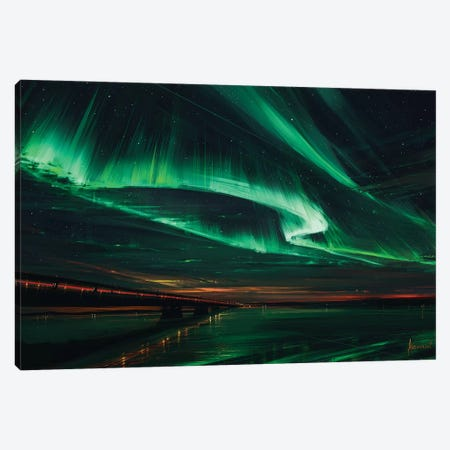 Northern Lights Canvas Print #AEN12} by Alena Aenami Canvas Wall Art