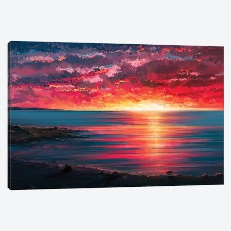 Seaside Canvas Print #AEN15} by Alena Aenami Canvas Print