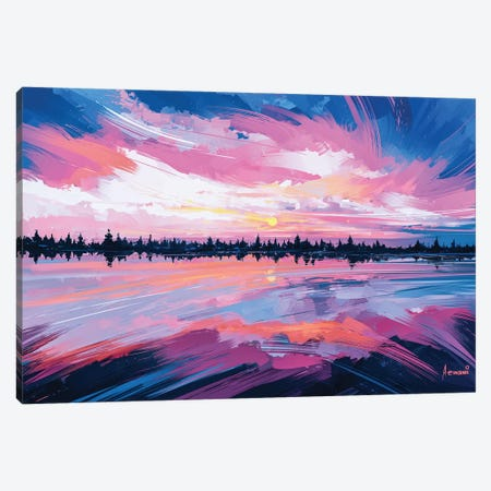Sky Mirror Canvas Print #AEN19} by Alena Aenami Canvas Art