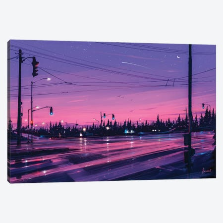 7 P.M. Canvas Print #AEN1} by Alena Aenami Art Print