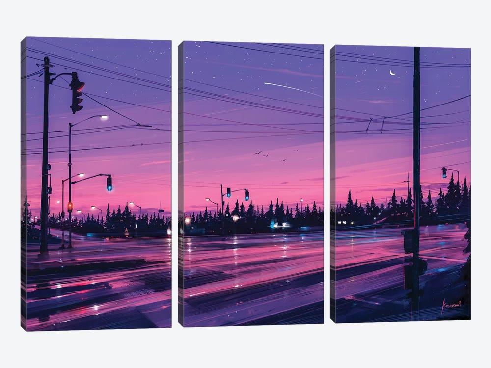 7 P.M. by Alena Aenami 3-piece Canvas Artwork