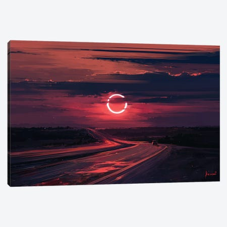 Solar Eclipse Canvas Print #AEN21} by Alena Aenami Canvas Art Print