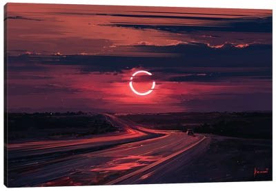 Solar Eclipse Canvas Art Print