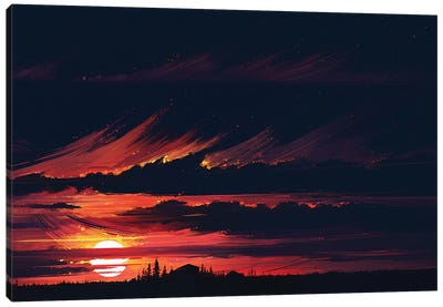 Sundown Canvas Art Print