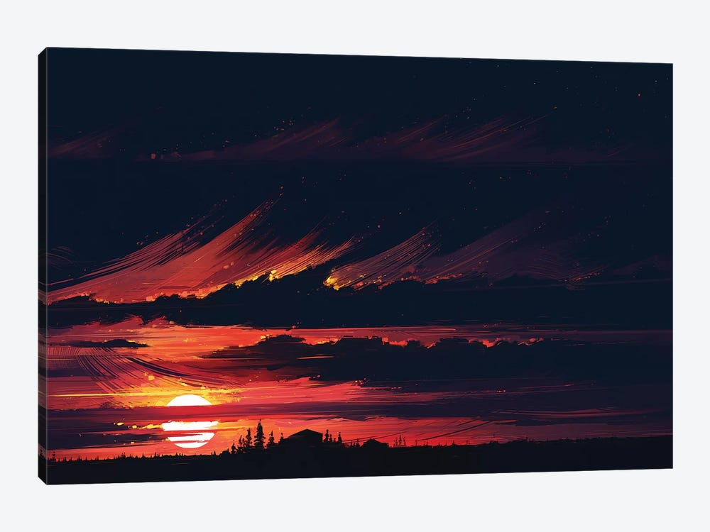 Sundown 1-piece Canvas Print