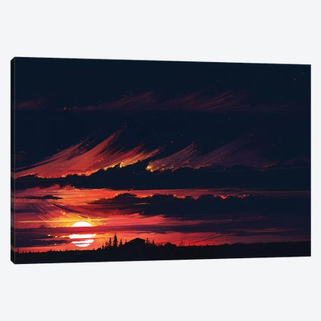Sundown Canvas Print #AEN22} by Alena Aenami Art Print