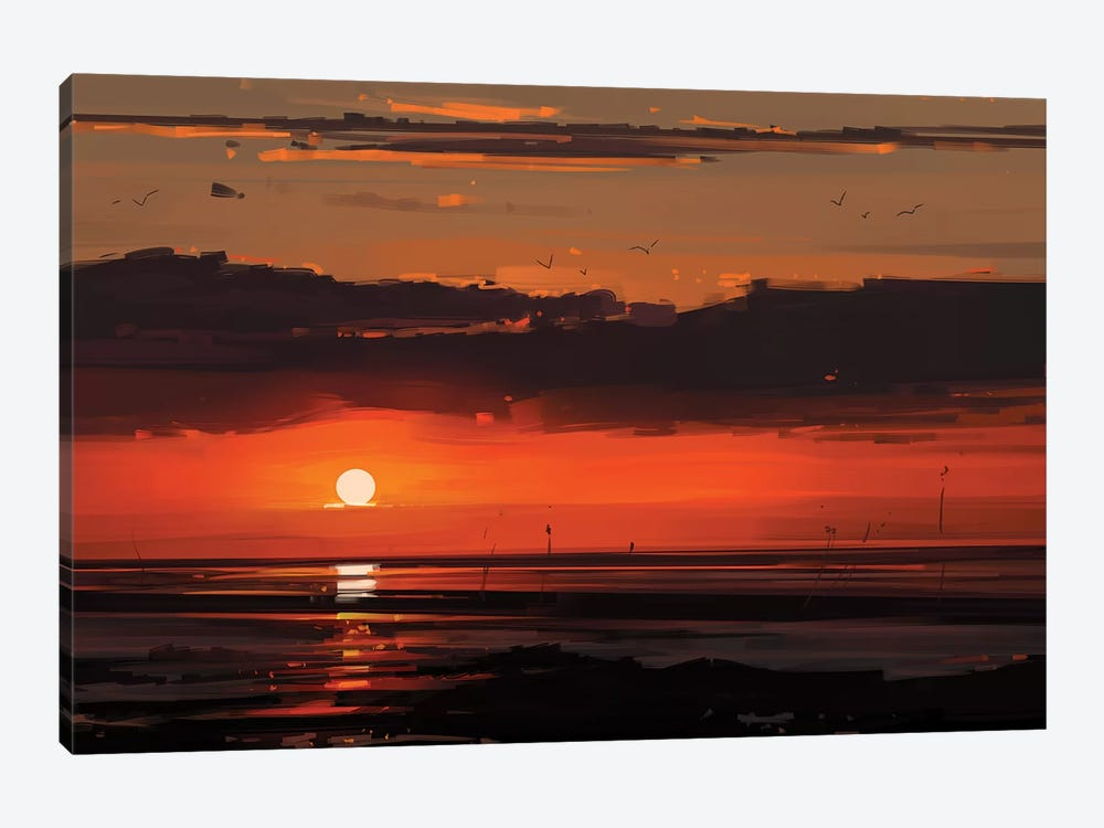 Sunset 1-piece Canvas Wall Art