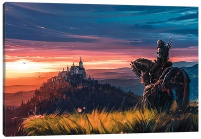 Beyond Hill And Dale Canvas Art Print