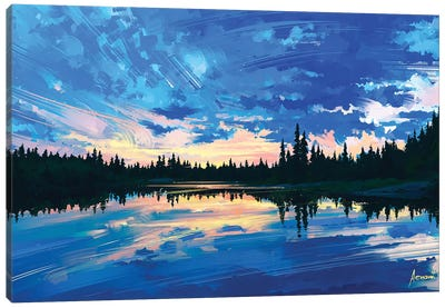 Around Us Canvas Art Print