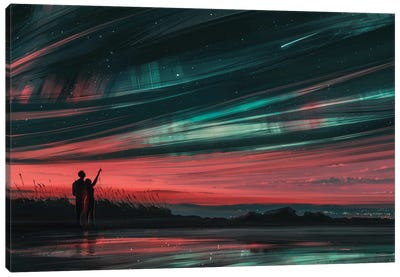 Stars And You Canvas Art Print