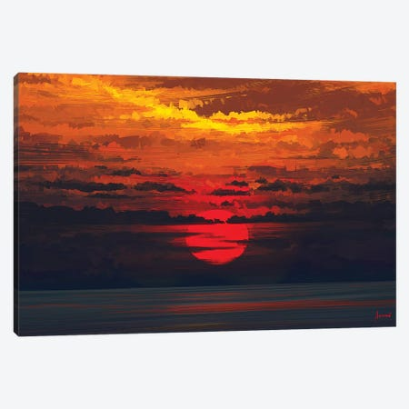 Calm Before The Storm Canvas Print #AEN6} by Alena Aenami Canvas Artwork