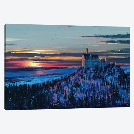 Castle In The Sky Canvas Print #AEN7} by Alena Aenami Canvas Artwork