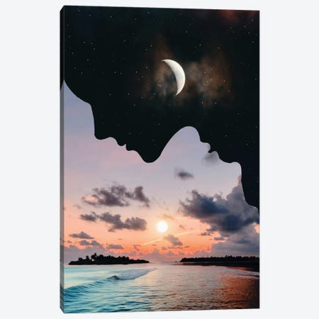 Day And Night Canvas Print #AEV10} by Abdullah Evindar Canvas Wall Art