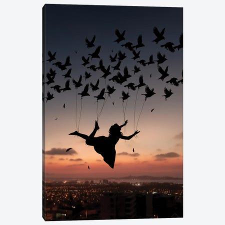 Flying Woman Canvas Print #AEV15} by Abdullah Evindar Canvas Art Print