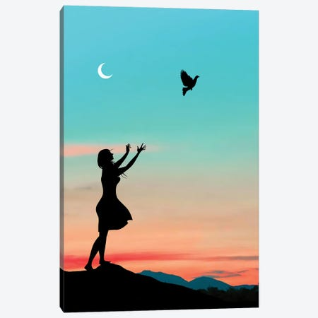 Free Bird Canvas Print #AEV16} by Abdullah Evindar Art Print