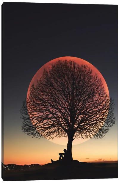 Moon And Man I Canvas Art Print