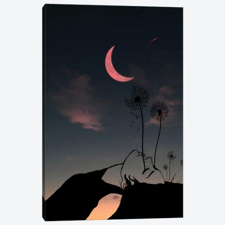 Night And Woman Canvas Print #AEV35} by Abdullah Evindar Art Print