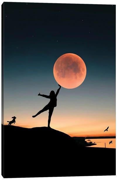 Touching The Moon Canvas Art Print