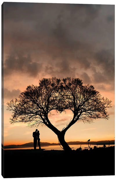 Tree And Heart Canvas Art Print